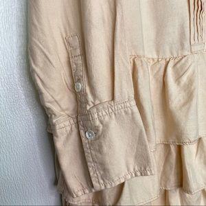J. Crew Dresses - SOLD❗️J. CREW Mona Shirtdress Tiered Ruffles Sz 12